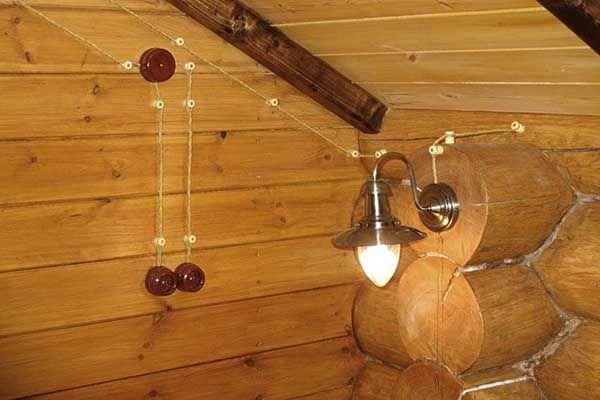 электрика в деревянном доме фото