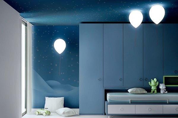 форма светильников при подборе освещения в детскую фото